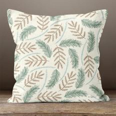 Ivory Cedar and Fir Throw Pillow