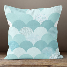 Blue Scales Throw Pillow