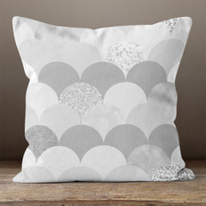 Grey Scales Throw Pillow