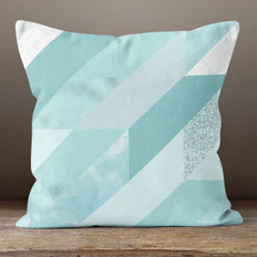 Blue Trapezoid Throw Pillow