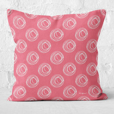 Rose with White Swirls Throw Pillow