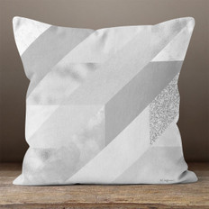 Grey Trapezoid Throw Pillow