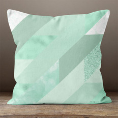 Green Trapezoid Throw Pillow