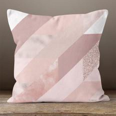 Pink Trapezoid Throw Pillow