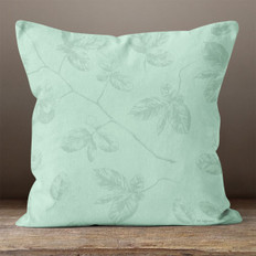 Green Leaves on Branches Throw Pillow