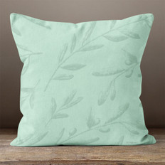 Green Leaves and Berries Throw Pillow
