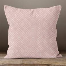 Pink Geometric Pattern Throw Pillow