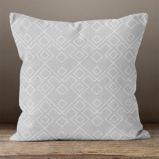 Grey Geometric Pattern 1 Throw Pillow