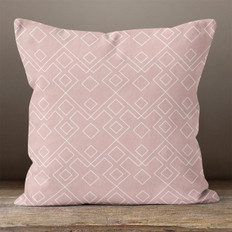 Pink Geometric Pattern 1 Throw Pillow
