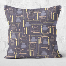 Navy Blue By Candlelight Throw Pillow