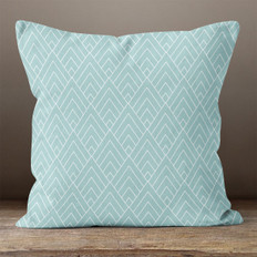 Blue Geometric Pattern 3 Throw Pillow
