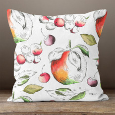 White with Watercolor Fruit