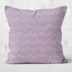 Purple Zigzag Throw Pillow