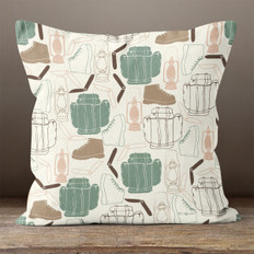 Ivory Wilderness Adventure Throw Pillow