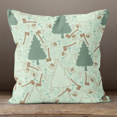 Light Green In the Pines Throw Pillow