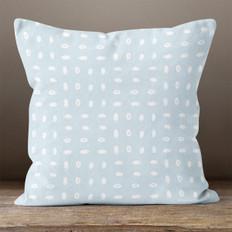 Light Blue Ovals Throw Pillow