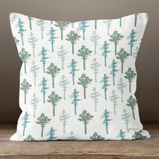 White Walk in the Woods Throw Pillow