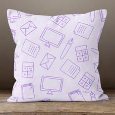 Purple Office Items Throw Pillow