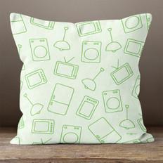 Green Modern Living Throw Pillow