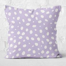 Purple Spots Throw Pillow