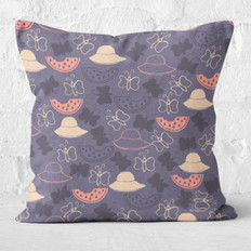 Navy Watermelon Summer Throw Pillow