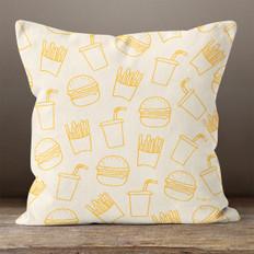 Orange Cream Burgers & Fries Throw Pillow