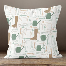 White Gardener's Dream Throw Pillow