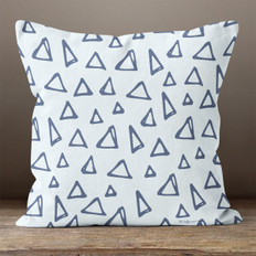 Light Blue with Triangles Throw Pillow