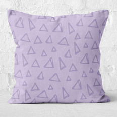 Lavender with Triangles Throw Pillow