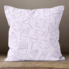 Lavender Sweets & Treats Throw Pillow