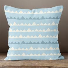 Blue with Mountains Throw Pillow