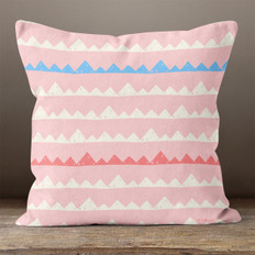 Pink with Mountains Throw Pillow