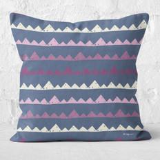 Navy with Mountains Throw Pillow