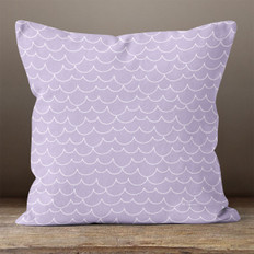 Purple with Scallops Throw Pillow