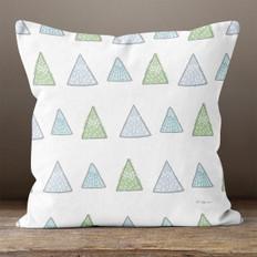 White Winter Forest Trees Throw Pillow