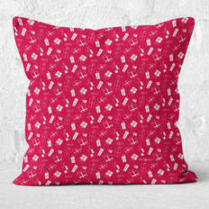 Red Christmas Presents Throw Pillow