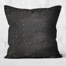 Black Winter Night Throw Pillow