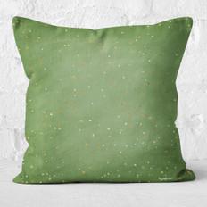 Green Winter Sky Throw Pillow