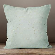 Light Grey Night Sky Throw Pillow