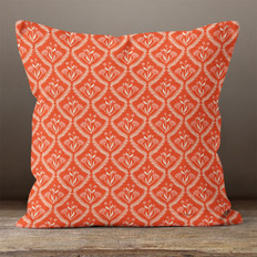 Red Winter Motif Throw Pillow