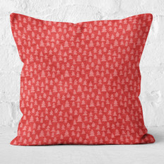 Red Christmas Trees Throw Pillow