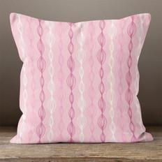 Pink Contemporary Throw Pillow