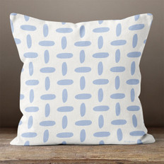 White with Lavender Crosshatch Throw Pillow
