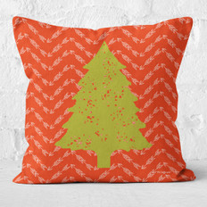Red Arrows and Pine Tree 2 Throw Pillow
