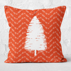 Red Arrows and White Tree 3 Throw Pillow