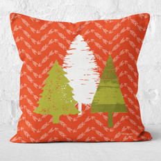 Red Arrows and Pine Tree 4 Throw Pillow