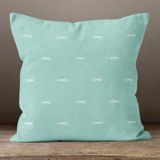 Teal with White Infinity Symbols Throw Pillow
