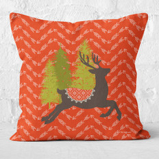 Red Arrows and Comet in the Pines Throw Pillow