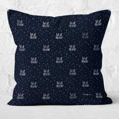 Midnight Blue Let It Snow Throw Pillow