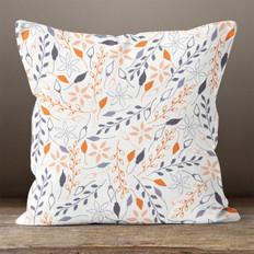 Warm Floral Throw Pillow